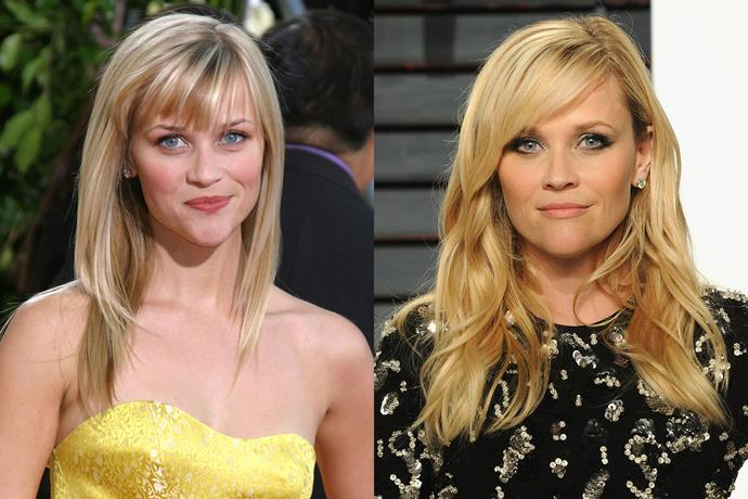**Reese Witherspoon** in 2007 and 2017.