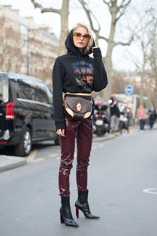 Don't worry about carrying your bag over your shoulder with Vuitton's saddlebag style.