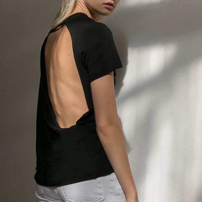 "**KACEY DEVLIN:**   **What was the one piece that propelled [Kacey Devlin](https://www.theundone.com/collections/kacey-devlin|target=""_blank"") into the limelight?** *""The [Collapse Back jersey tees](https://www.theundone.com/collections/kacey-devlin/products/kacey-devlin-black-collapse-back-jersey-t-shirt