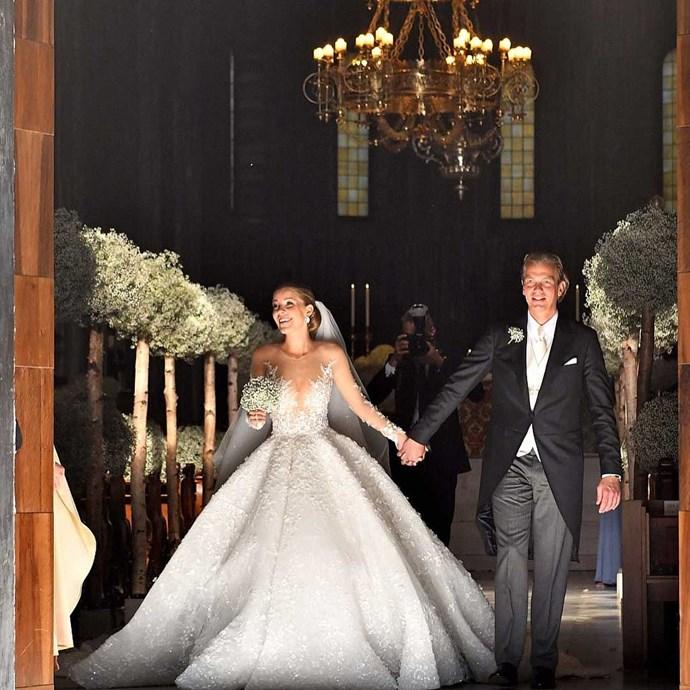 23-year-old Victoria Swarovski married property investor, Werner Mürz, in Trieste Italy over the weekend.   Image: [@idoweddingsng](https://www.instagram.com/p/BVkpACiFLyU/)