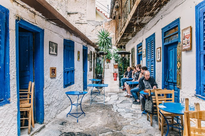 **4. Athens, Greece**  It's *all* about the street food in Greece. Stop by Plaka, and sample the capital's signature dish, Souvlaki.