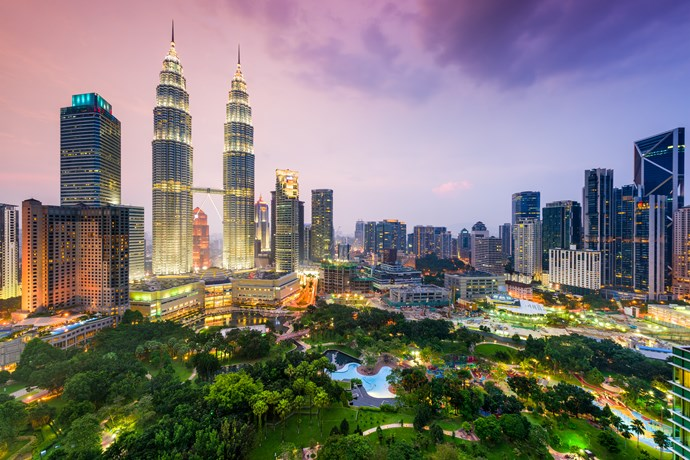 **5. Kuala Lumpur, Malaysia**  Contemporary meets traditional in Kuala Lumpur. Think a delicious mix of Malay, Chinese, Indian and European cuisines.