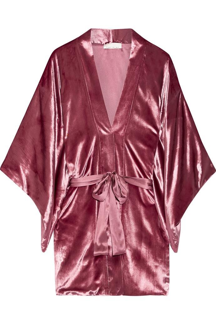 Velvet Kimono, $753, Fleur Du Mal at [Net-a-Porter](https://www.net-a-porter.com/au/en/product/860599/Fleur_Du_Mal/velvet-kimono)