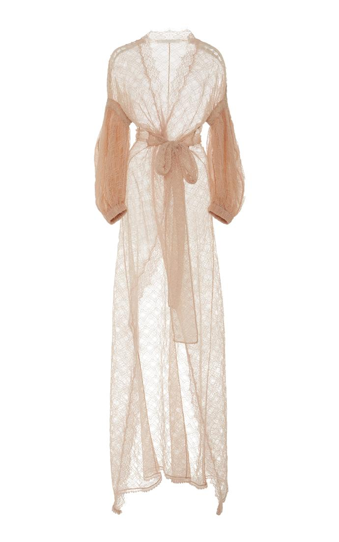 "Lariat Lace Robe, $1,845, Jonathan Simkhai at [Moda Operandi](https://www.modaoperandi.com/jonathan-simkhai-r18/grommet-lariat-lace-robe) <br> <br> *Getting married? Join our private group, [**The Bridal Directory**](https://www.facebook.com/groups/354270651754141|target=""_blank"") or follow [**Bazaar Bride on Pinterest**](https://www.pinterest.com.au/bazaaraustralia/