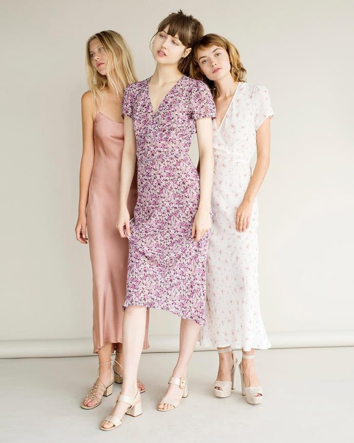 "**Who**: Lily Ashwell  **Why**: Ashwell's MO is simple: Affordable vintage-inspired pieces that tow the line between 'pretty' and 'cool'. We're sold.  **Buy**: Dress, approx. $457, [Lily Ashwell](https://www.lilyashwell.com/collections/new/products/billie-dress-sky-hanalei|target=""_blank"")"