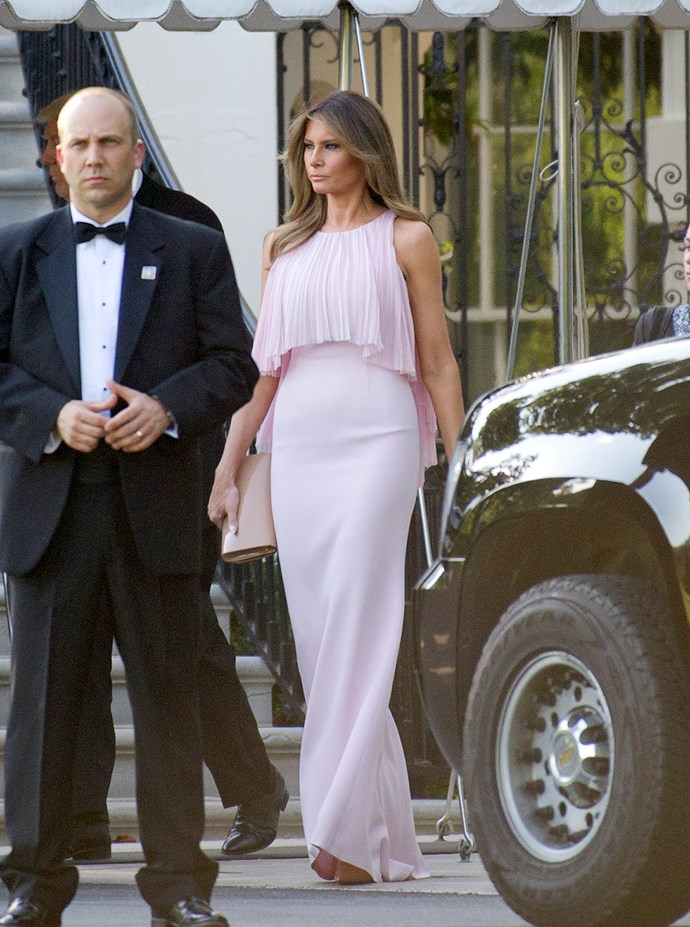 In J.Mendel attending the wedding of Secretary of Treasury head Steven Mnuchin.