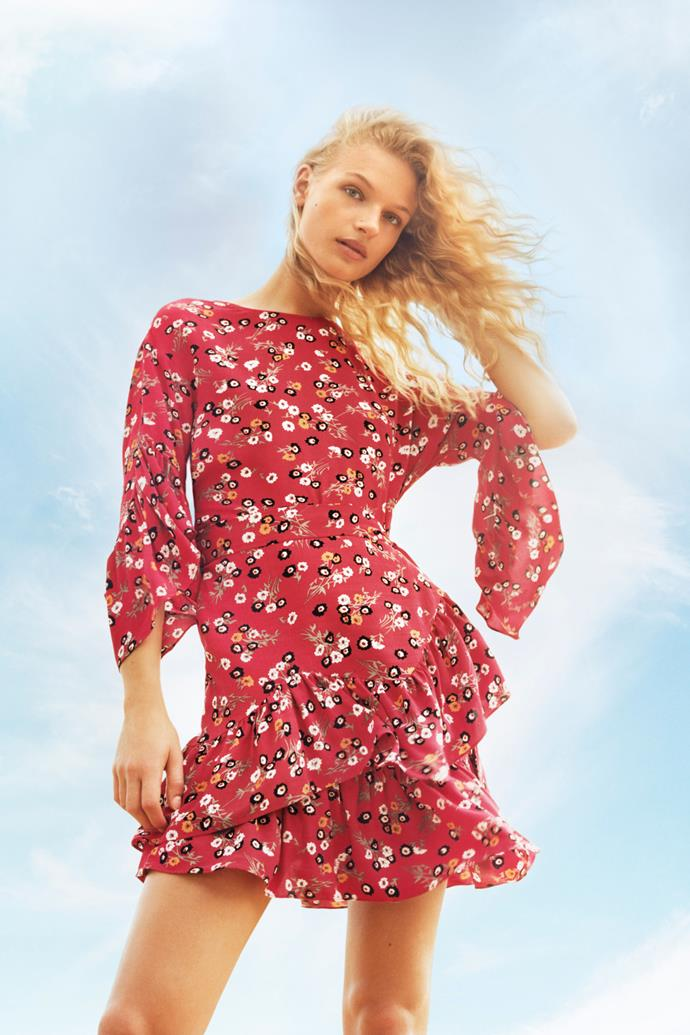 **MAJE**  Maje was one of the first French contemporary brands, characterised by its romantic, flirty take on Parisian femininity. From pleated skirts, lace dresses, ruffled tops, embroidered tunics to high neck blouses with bow detailing – it's pretty without being saccharine.  ***Maje.com***