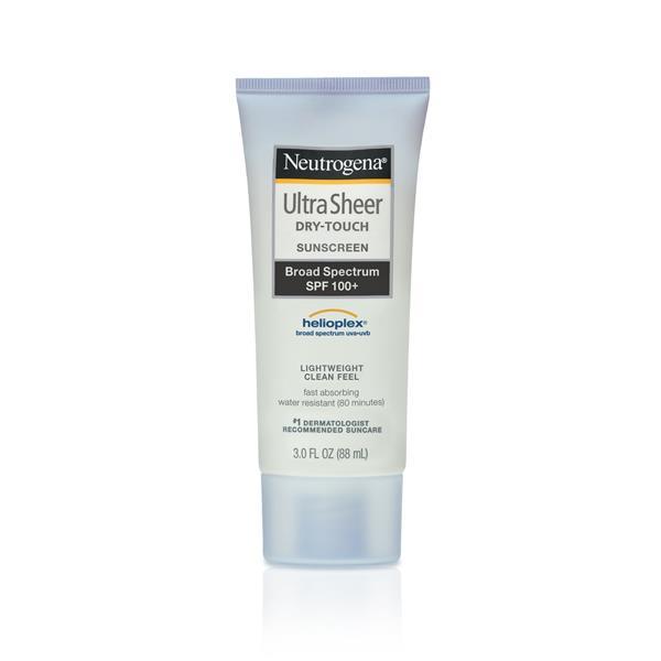 Neutrogena Ultra Sheer Dry-Touch Sunscreen Broad Spectrum SPF 100+, $43.99, at [Little Duck](http://littleduck.com.au/neutrogena-ultra-sheer-dry-touch-sunscreen-broad-spectrum-spf-100-3-fl-oz-97099.html?utm_source=googlepepla&utm_medium=adwords&id=18283950120&gclid=CjwKEAjwvr3KBRD_i_Lz6cihrDASJADUkGCa7qeFv1IVpV304xHf1tpwtVkJ6BR7kKQJL7ZB9KAgQhoC11zw_wcB)