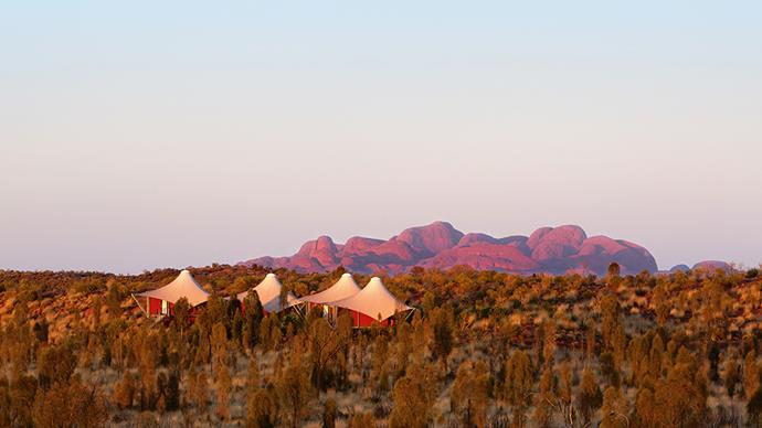 **[Longitude 131°, Northern Territory](http://longitude131.com.au/package/classic-uluru-rates-201718/)**   From $3,780 a night.   Set atop red-dust dunes overlooking Uluru, Longitude 131° is a luxury wilderness retreat like no other.   The sixteen tented pavilions feature king sized beds, local indigenous art and private balconies equipped with day beds and eco smart fireplaces. Complete with a spa and alfresco dining on site, this is the gold standard of glamping.