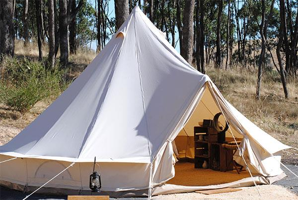 **[Cosy Tents, Daylesford, Victoria](http://www.cosytents.com.au)**   From $160 per night.  If you love camping but don't actually want to spend half a day setting up a comfortable camp site, this secluded glamping spot will be right up your alley.