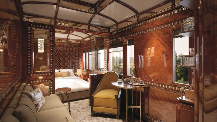 **[The Grand Suite aboard the Venice Simplon-Orient-Express](www.belmond.com)**