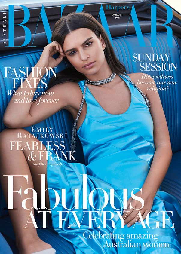 Emily Ratajkowski stars on the August issue of Harper's BAZAAR Australia, on sale Monday August 3rd. Emily wears Louis Vuitton; photgraphed by Pamela Hanson; styled by Naomi Smith; hair by John Ruggiero at Starworks Artists and makeup by Jo Strettell at Tracey Mattingly.