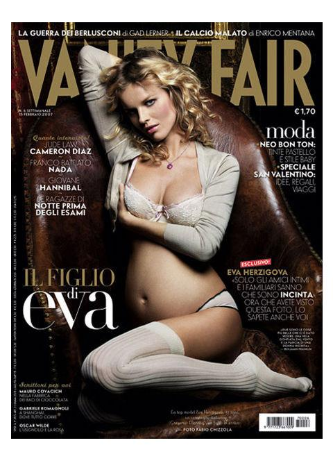 **Eva Herzigova (2007)** <br><br> The Czech model and actress posed for the February 2007 issue of *Vanity Fair*.