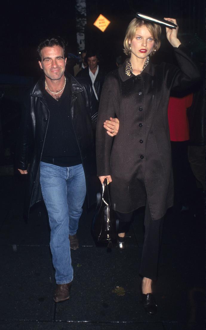 Eva Herzigova (with then-husband Tico Torres)