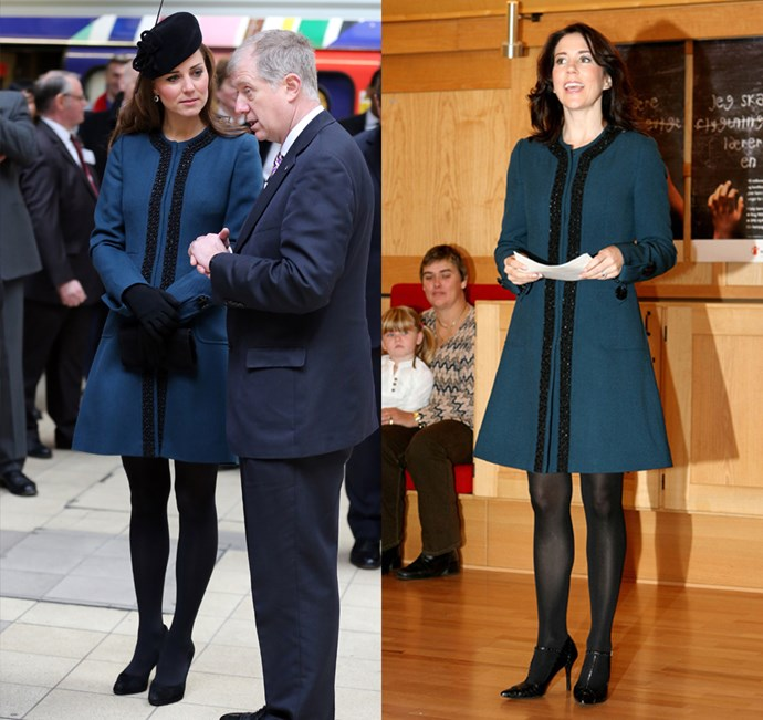 The Duchess of Cambridge and Princess Mary of Denmark were both taken with this Malene Birger maternity coat during their pregnancies.
