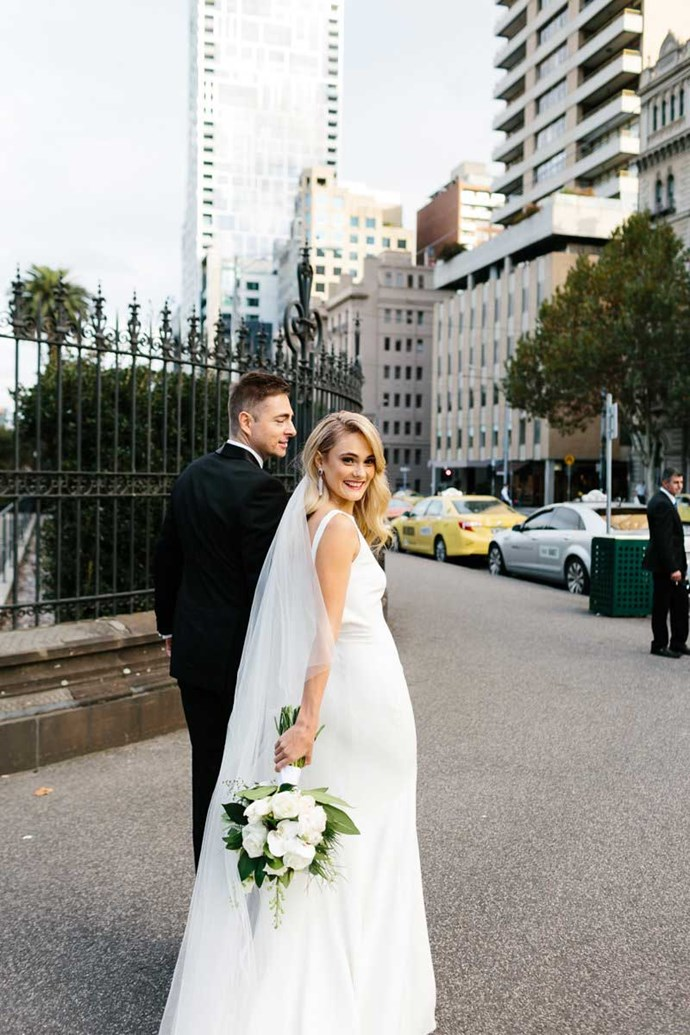 **Her one tip for future brides: ** There is so much information out there and you can really get caught up in all of it. I think the key is to know your style and own it.
