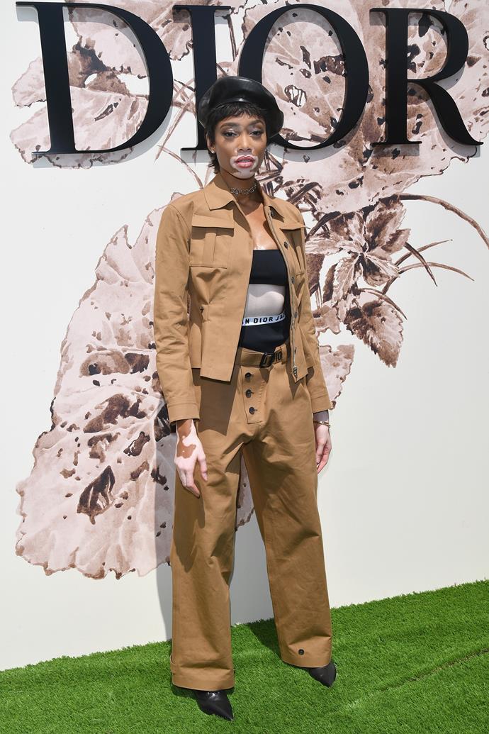 Winnie Harlow at Dior