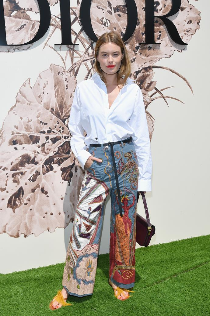 Camille Rowe at Dior