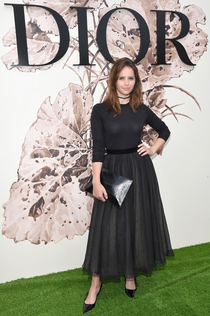 Felicity Jones at Dior