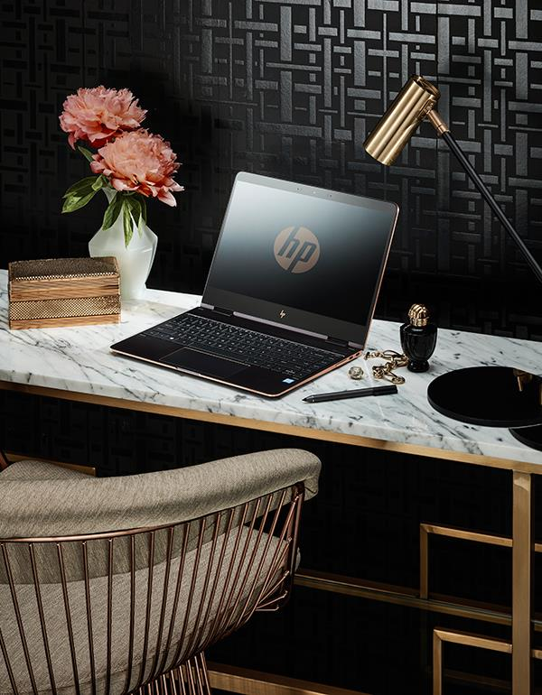 Forget Balenciaga's knife-point mules, the HP Spectre X360 Rose Gold Laptop is at the top of our accessories Wish List.
