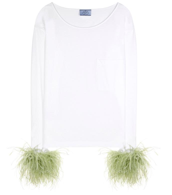 """Feather Trimmed Cotton Top, $1,010, [MyTheresa](https://www.mytheresa.com/en-au/000999-exclusive-to-mytheresa-com-feather-trimmed-cotton-top-829173.html?catref=category