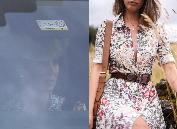 In July 2017, images emerged of Kate wearing what appears to be a Zara dress which retails for $69, before changing into an Alexander McQueen dress for the wedding.