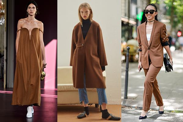 **Mocha** <br><br> This earthy, neutral brown is another staple colour that will make your wardrobe work twice as hard.  <br><br> *Valentino Couture AW '18, Genuine People*