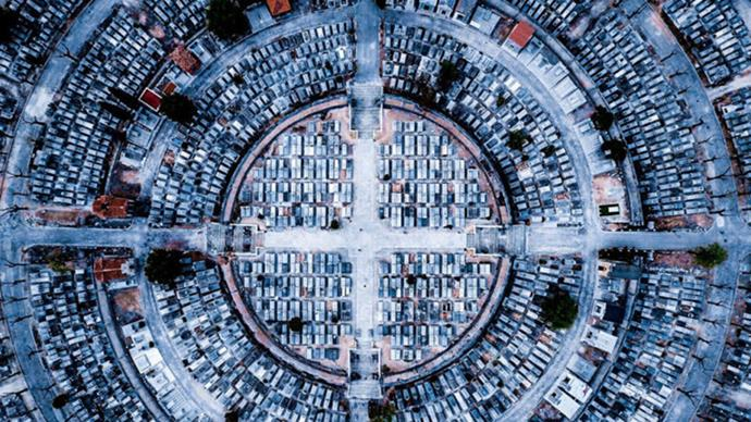 """**3RD PLACE, URBAN: """"PEACE"""" IN MADRID BY LUIS SAGUAR DOMINGO**  """"I was in Madrid looking for a nice place for flying my drone and add it to my Instagram account…when I saw my picture it was really cool and symmetrical."""""""