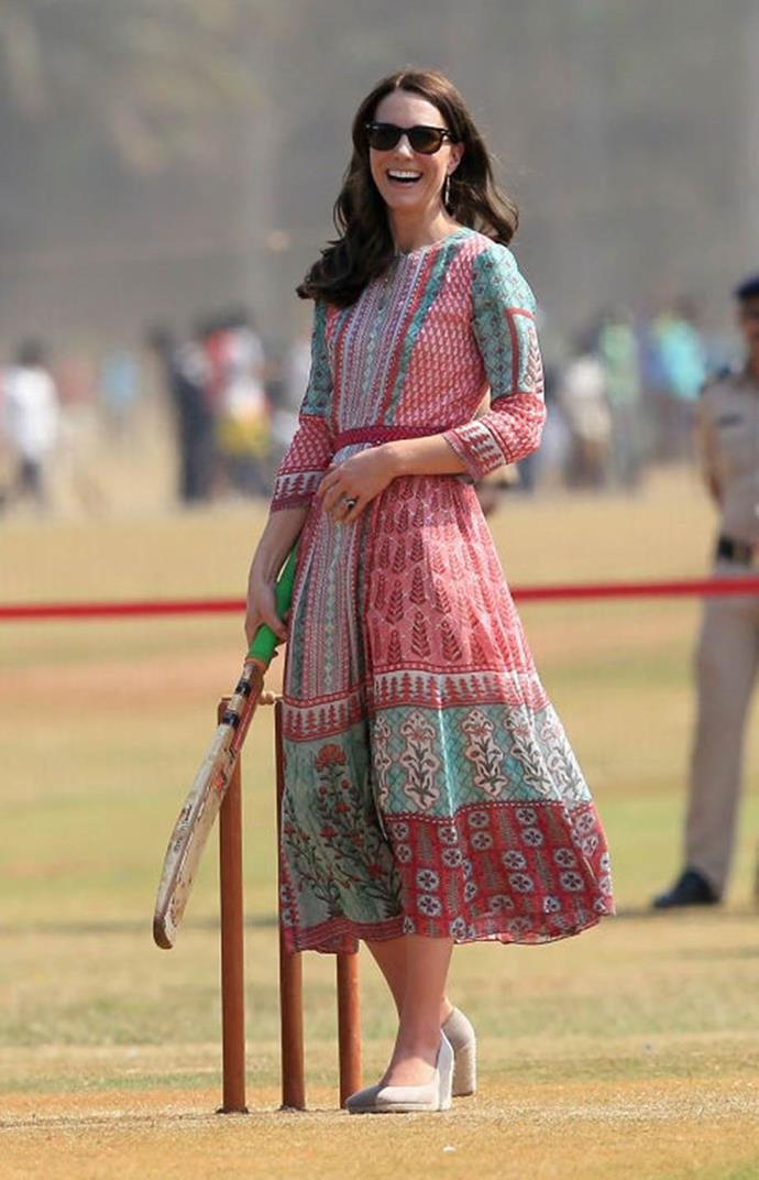 "**Staying too ""drab""**<br><br>  Fans anticipated that the Cambridges' tour of India and Bhutan would be a nonstop parade of brilliant southeastern style, but the Independent called Kate's subdued choices ""embarrassing"" ""dowdy,"" dreary"" and ""lacking pizzazz."""