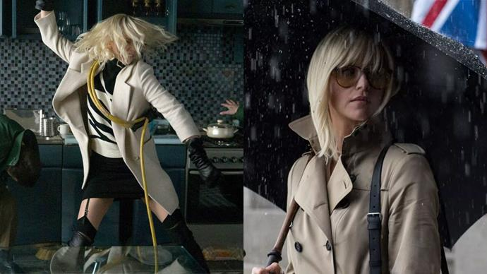 ***Atomic Blonde* (2017)** <br><br> Charlize Theron's dynamic spy-thriller, *Atomic Blonde*, has shot up to the top of our fashion girl's must-watch list. The costume designer behind the distinctive '80s style, Cindy Evans, told *[Fashionista](https://fashionista.com/2017/07/charlize-theron-atomic-blonde-movie-costumes)* that MI6 spy Lorraine was decked out in vintage Dior, Burberry trenches, John Galliano vinyl coats, Stuart Weitzman boots and Margiela suits.