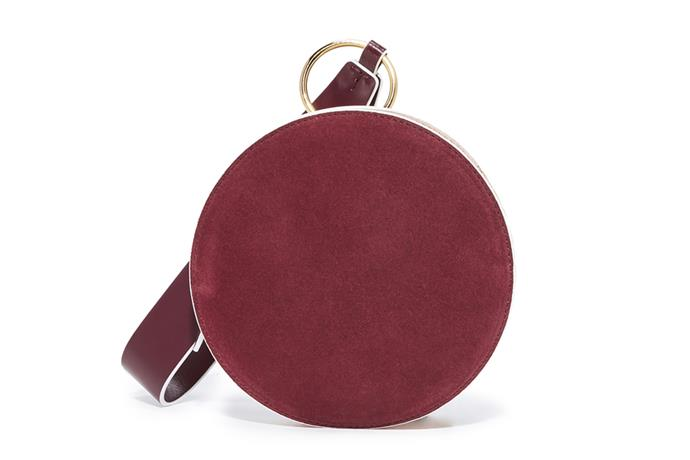 Circle Wristlet, $250, Diane von Furstenberg at [Shopbop](https://www.shopbop.com/circle-wristlet-diane-von-furstenberg/vp/v=1/1585844122.htm?fm=search-viewall&os=false) <br><br> Not only is this DVF number the shade of one of [2018's 'it' colours](http://www.harpersbazaar.com.au/fashion/2018-fashion-colour-trends-13764), the suede gives it a dressy appeal.