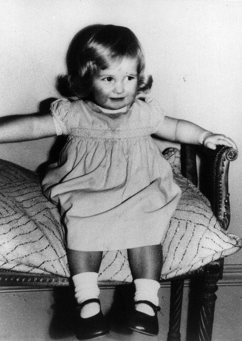 **1963**  Princess Diana as a chubby-cheeked two-year-old at Park House, Sandringham, Norfolk. Early in her childhood, she and her family lived in a rented property on the Queen's estate.