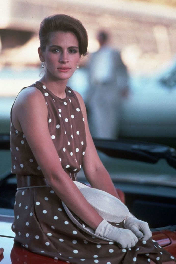 **VIVIAN WARD, *PRETTY WOMAN*** <br><br> From that infamous cut-out dress and patent over-the-knee boots to her post-Rodeo Drive shopping spree looks (the polka dotted derby dress, red evening gown, etc), Vivian (Julia Roberts) was the fashion hero we never knew we needed.