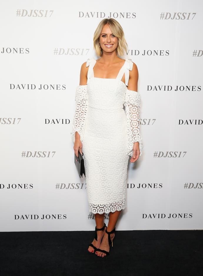 Sylvia Jeffries wears Rebecca Vallance