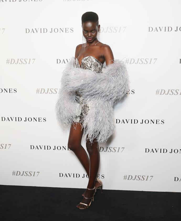 Adut Akech in Alice McCall