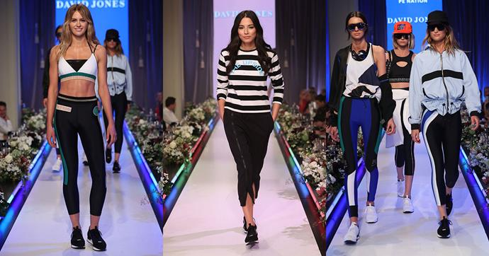 """**Modern Leisure**<br><br>  """"Sportswear influenced by more contemporary design elements make athleisure wear both edgy and comfortable. Bright shades, colour-blocking, panelling, stripes and splicing give off a graphic edge. Must-have pieces include the slogan tee, sport-luxe swimwear and oversized jackets."""""""