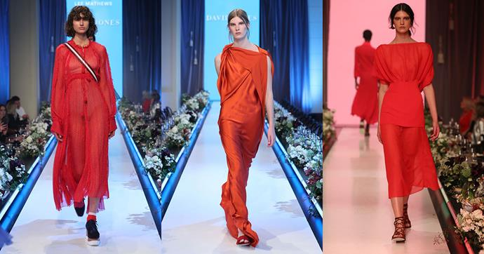 """**Red** <br><br> """"Bright red hues were a key trend for A/W '17 and the trend is not going anywhere for summer. This season the redder, the better! Worn head-to-toe, this makes for a powerful outfit that you will reach for again and again."""""""