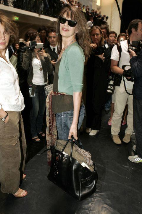 **Jane Birkin has only had five of her namesake bags.** <br><br> She only uses one Birkin at a time and carries her bags until they wear out. She is also known for decorating the pricy purses with stickers, pins, and strands of beads.