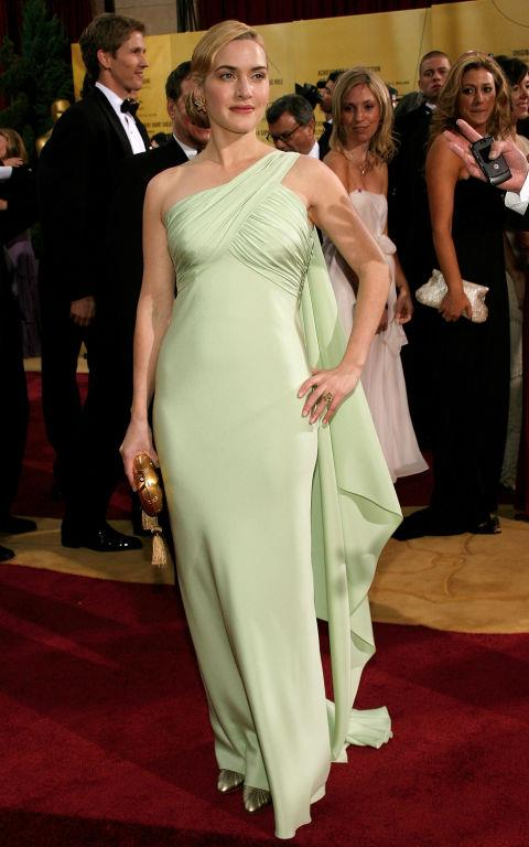 **KATE WINSLET IN VALENTINO—approx. $127,000** <br><br> Kate Winslet's young daughter, Mia, chose the mint green Valentino gown that her mother wore to the 2007 Oscars.
