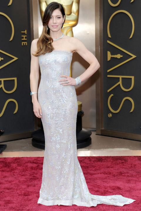 **JESSICA BIEL IN CHANEL—approx. $127,000** <br><br> As you can imagine, a beaded Chanel gown doesn't come cheap.