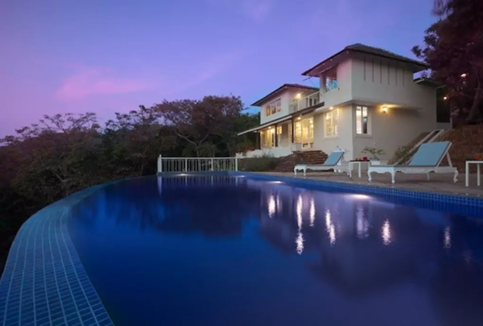 **[Hilltop Retreat](https://www.airbnb.com.au/rooms/5065984), Arpora, Goa, India** <br> <br> **From $448 a night, sleeps 16** <br> <br> Set in a private hilltop forest estate, this three villa residence complete with a dancefloor is the perfect setting for an intimate wedding.