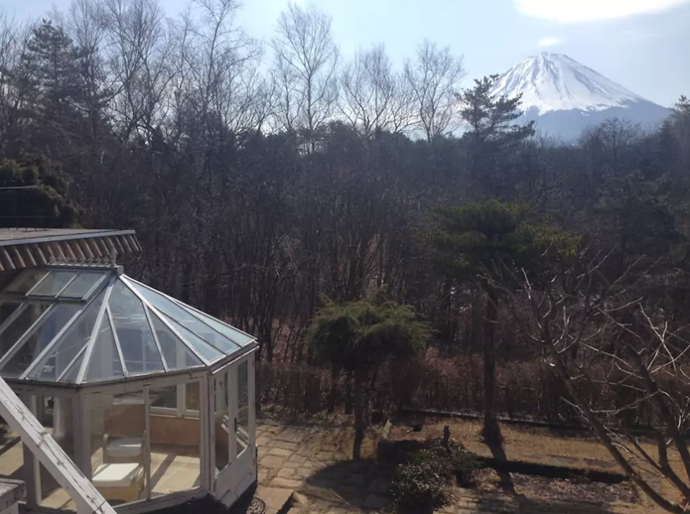 **[Mount Fuji Backdrop](https://www.airbnb.com.au/rooms/6218393), Narusawa, Japan** <br> <br> **From $239 a night, sleeps 8** <br> <br> Take in panoramic views of Mount Fuji whilst saying 'I do'.