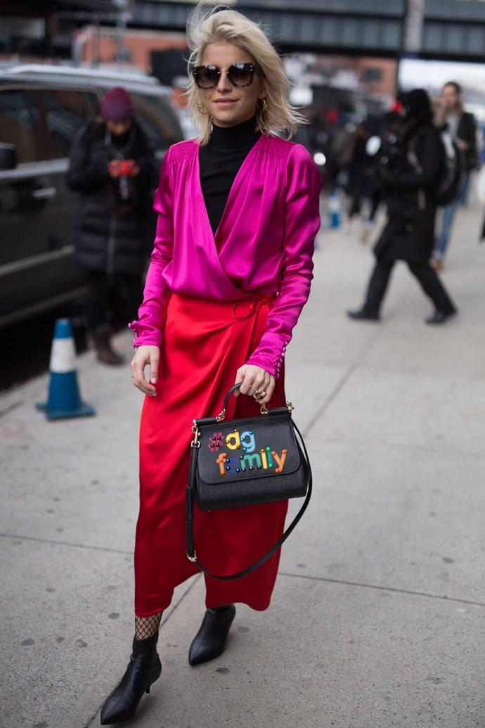 Caroline Daur at New York Fashion Week