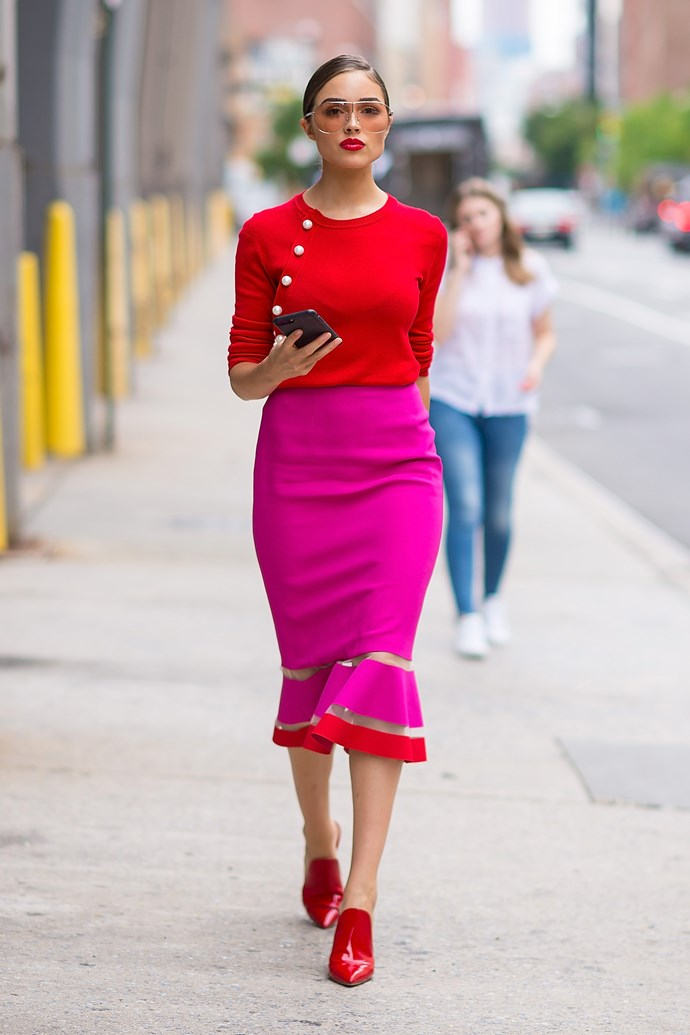 Olivia Culpo out in New York