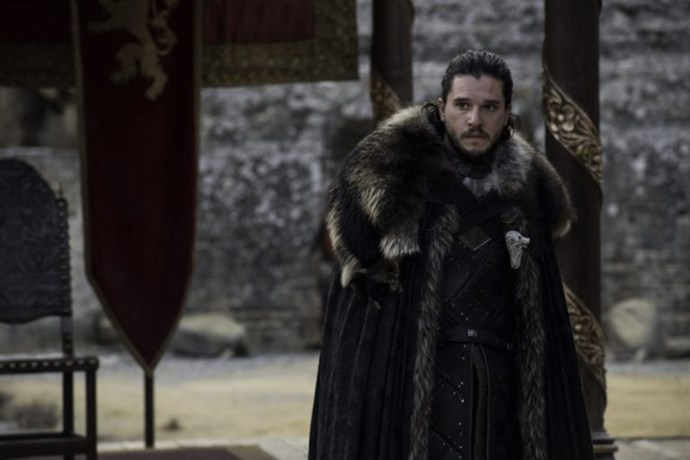 Jon Snow is present for the meeting, meaning he must be feeling better after his battle again the Wights beyond the wall.