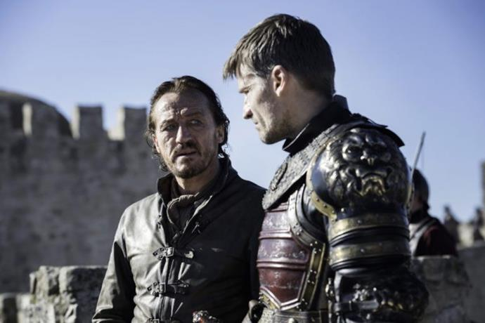 This is proof that Bronn is alive for at least some of the final episode. We know that Cersei wants Jaime to punish him for organising a meeting with their brother Tyrion, but he seems to have avoided that fate for at least one scene.