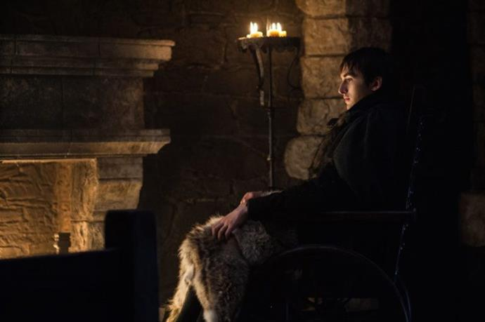 Bran Stark seems to be doing absolutely nothing, as per usual, in Winterfell. Though with all of the theories flying around that **[Bran is the Night King](http://www.harpersbazaar.com.au/culture/game-of-thrones-bran-the-night-king-theory-14127)**, we predict he is doing more than he seems—perhaps warging into a dragon, or watching the whole meeting go down from the comfort of his bedroom.