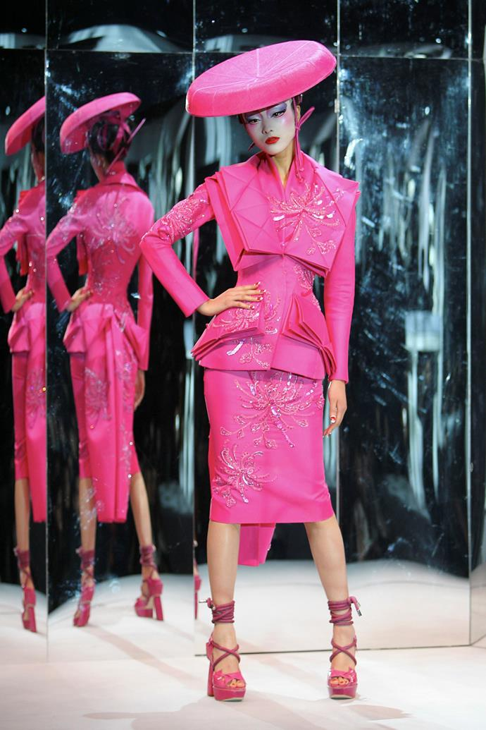 Christian Dior, Paris (fashion house); John Galliano (designer) *Konnici-Kate, suit* 2007, autumn−winter 2007–08. Dior Heritage collection, Paris. Photo © Guy Marineau.