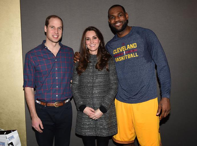 **YOU CAN'T TOUCH A ROYAL.** <br><br> It's rumoured that the Royal Family can't be touched by non-royals, and Kate's awkward reaction to LeBron James throwing his arm around her is full-blown proof.