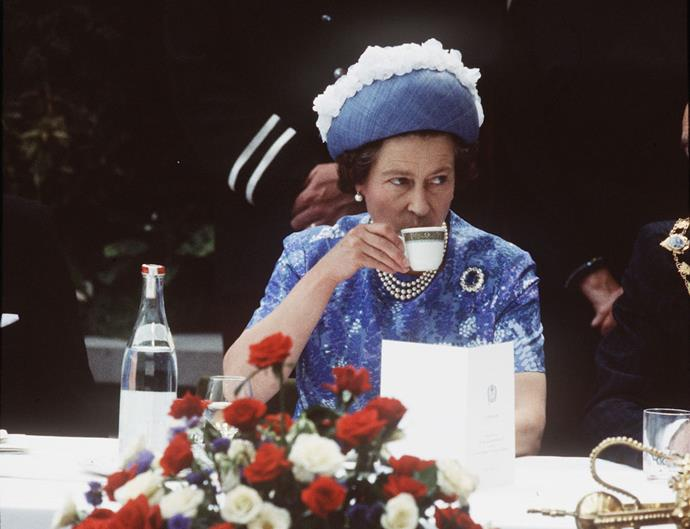 **THE QUEEN'S BREAKFAST MENU IS NON-NEGOTIABLE.** <br><br> Every morning, the Queen has English Breakfast tea (*duh*) followed by Corn Flakes.